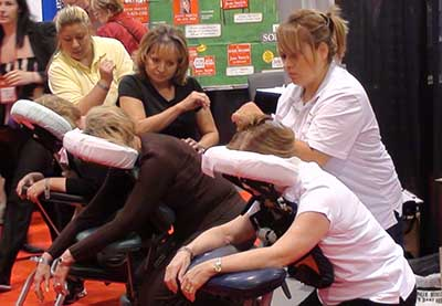Chair Massage at Convention